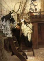 James Jacques Joseph Tissot - paintings - Boarding the Yacht