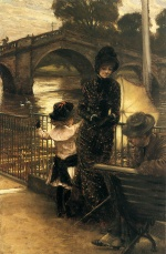 James Jacques Joseph Tissot - paintings - By the Thames at Richmond