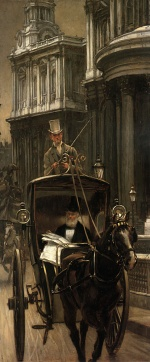 James Jacques Joseph Tissot - paintings - Going to Business