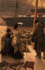 James Jacques Joseph Tissot - paintings - Goodby on the Mersey