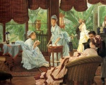 James Jacques Joseph Tissot - paintings - In the Convervatory
