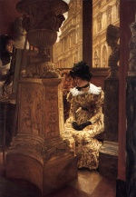James Jacques Joseph Tissot - paintings - In the Louvre