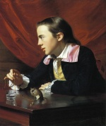John Singleton Copley - paintings - Boy with a Squirrel (Henry Pelham)