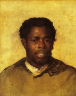 John Singleton Copley - paintings - Head of a Negro