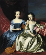 John Singleton Copley - paintings - Mary and Elizabeth Royall
