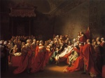 John Singleton Copley  - Bilder Gemälde - The Colapse of the Earl of Chatam in the House of Lords (The Death of the Earl Chatham)