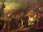 John Singleton Copley  - Bilder Gemälde - The Victory of Lord Ducan (Surrender of the Dutch Admiral DeWinter to Admiral Duncan