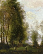 Jean Baptiste Camille Corot - Bilder Gemälde - A Shady Resting Place