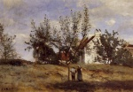 Jean Baptiste Camille Corot - paintings - An Orchard at Harvest Time