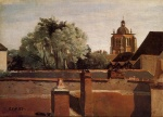Jean Baptiste Camille Corot - Bilder Gemälde - Bell Tower of the Church of Saint Paterne at Orleans