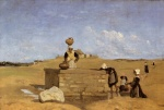 Jean Baptiste Camille Corot - paintings - Breton Women at the Fountain