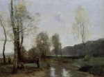 Jean Baptiste Camille Corot - paintings - Canal in Picardi