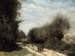 Jean Baptiste Camille Corot - Bilder Gemälde - Road in the Country
