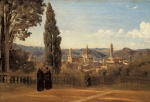 Jean Baptiste Camille Corot - paintings - The Boboli Gardens (Florence)