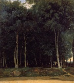 Jean Baptiste Camille Corot - paintings - The Bas Breau Road