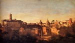 Jean Baptiste Camille Corot - paintings - Forum Viewed from the Farnese Gardens