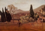 Jean Baptiste Camille Corot - paintings - Gardens of the Villa d Este at Tivoli