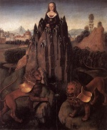 Hans Memling - Bilder Gemälde - Allegory with a Virgin