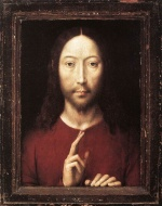 Hans Memling - Bilder Gemälde - Christ Giving his Blessing