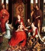 Hans Memling - Bilder Gemälde - Marriage of St. Catherine