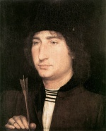 Hans Memling - Bilder Gemälde - Portrait of a Man with an Arrow