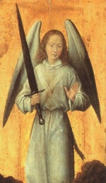 Hans Memling - Bilder Gemälde - The Archangel Michael