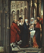 Hans Memling - Bilder Gemälde - The Presentation in the Temple