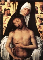 Hans Memling - Bilder Gemälde - The Virgin Showing the Man of Sorrows