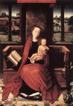 Hans Memling - Bilder Gemälde - Virgin and Child Enthroned