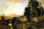 Thomas Moran - Bilder Gemälde - A Late Afternoon in Summer