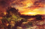 Thomas Moran - Bilder Gemälde - An Arizona Sunset near the Grand Canyon