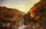Thomas Moran - Bilder Gemälde - Autumn on the Wissahickon