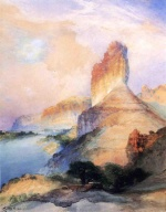 Thomas Moran - Bilder Gemälde - Castle Butte Green River Wyoming