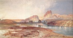 Thomas Moran - Bilder Gemälde - Cliff Green River Wyoming