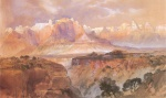 Thomas Moran - Bilder Gemälde - Cliffs of the Rio Virgin South Utah
