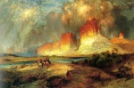 Thomas Moran - Bilder Gemälde - Cliffs of the Upper Colorado River