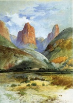 Thomas Moran - Bilder Gemälde - Colburns Butte South Utah