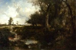 Thomas Moran - Bilder Gemälde - Crossing the Brook near Plainfield New Jersey