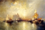 Thomas Moran - Bilder Gemälde - Entrance to the Grand Canal Venice