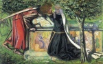 Dante Gabriel Rossetti - Bilder Gem�lde - Arthurs Tomb (The Last Meeting of Lancelot and Guinevere)