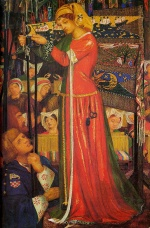 Dante Gabriel Rossetti - Bilder Gem�lde - Before the Battle