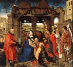 Rogier van der Weyden - Bilder Gemälde - Adoration of the Magi