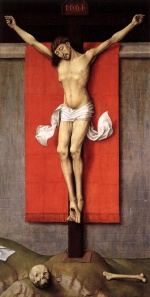 Rogier van der Weyden - Bilder Gemälde - Crucifixion Diptych (Right Panel)