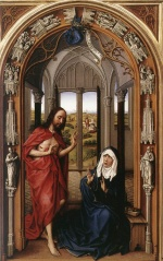 Rogier van der Weyden - Bilder Gemälde - Minaflores Altarpiece (Right Panel)