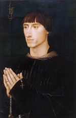Rogier van der Weyden - Bilder Gemälde - Portrait Diptych of Phillipe de Croy (Right Wing)