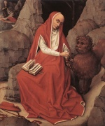 Rogier van der Weyden  - Bilder Gemälde - St. Jerome and the Lion
