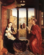 Rogier van der Weyden  - Bilder Gemälde - St. Luke Drawing a Portrait of the Madonna
