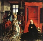 Rogier van der Weyden  - Bilder Gemälde - The Annunciation