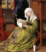 Rogier van der Weyden  - Bilder Gemälde - The Magdalene Reading