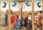 Rogier van der Weyden  - Bilder Gemälde - Triptych of the Holy Cross